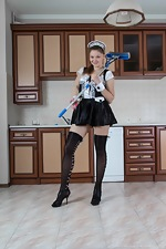 Guyana is a sexy naked maid who does sexy chores  - pic #3