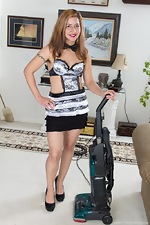 Isabel is a hard working hairy girl maid - pic #1