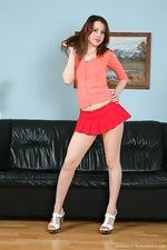 Hairy Jasmine's heels and mini skirt - pic #1