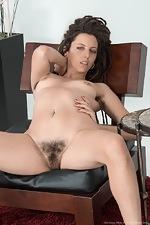 Jazmine Skye strips naked on her armchair  - pic #10