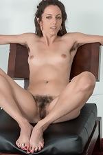 Jazmine Skye strips naked on her armchair  - pic #16