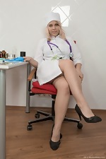 Jill plays a Doctor and masturbates in her chair  - pic #1