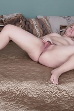 Jodie Dallas strips off grey sweater in bed  - pic #12