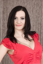 A beautiful Kaira strips naked from her red dress  - pic #1