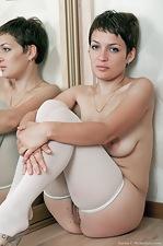 Karina looks twice as sexy in the mirror - pic #16