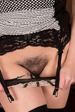 Kate Anne masturbates and strips naked on chair - pic #12
