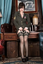 Kate Anne strips from her military uniform  - pic #2