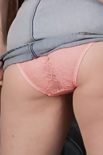 Kate Anne takes off denim skirt to get naked  - pic #2