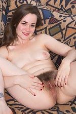 Kelly Morgan strips naked on her sofa - pic #11