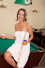 Hot hairy Kristina plays with some balls - pic #2