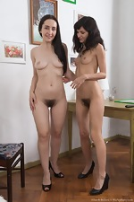 Efina and Di Devi have lesbian fun after work - pic #7