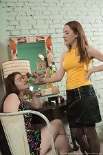 Elsa Hanemer and Yana Cey enjoy hot lesbian sex  - pic #1