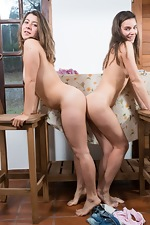 Natalia and Guadalupe have fun at the table - pic #8