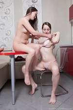 Rene and Yana Cey share lesbian hot sex with tea  - pic #9