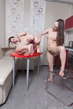 Rene and Yana Cey share lesbian hot sex with tea  - pic #13