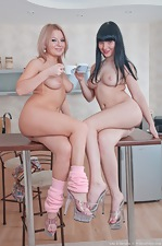 Sexy Lisa & Snezha strip together - pic #16
