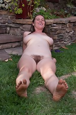 Busty Lindsay strips in outdoor pictorial - pic #13