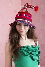 Lisa Li strips naked on her festive sofa  - pic #1