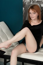 Lola Gatsby gets naked on her white leather chair  - pic #2