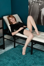Lola Gatsby gets naked on her white leather chair  - pic #3
