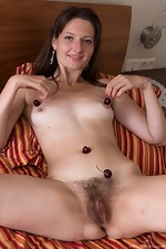 Lulu enjoys cherries and stripping naked on bed - pic #13