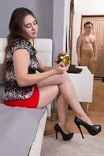Mara Gri has hot sex while solving a rubiks cube  - pic #1