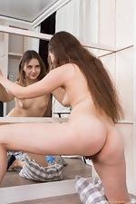 Mara Gri masturbates by her mirror - pic #9