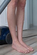 Nimfa Mannay enjoys some naked cleaning fun - pic #2