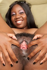 Nina Devon shows hairy pussy on patio - pic #12