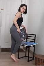 Ole Nina strips and masturbates after work - pic #1