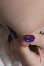 Pavla plays with a ruler and strips naked with it - pic #3