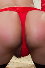 Young Russian Ramira strips in lingerie and stocking - pic #7