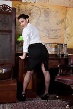 Roxy Mendez's sexy secretary stint - pic #1