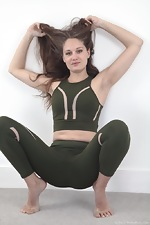 Sacha poses in her sexy training uniform - pic #2