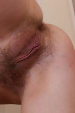 Hairy girl Sana splits in the name of porn - pic #15