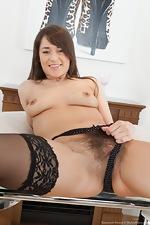 Savannah Secret masturbates on dining room table - pic #6