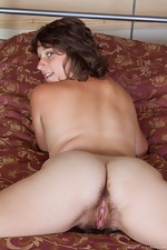 Sayge strips in bed from lingerie to naked - pic #15