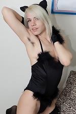 Hirsute porn model Selena loves her costume - pic #4