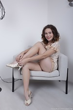 Sharon Rosie strips naked after reading a magazine - pic #5