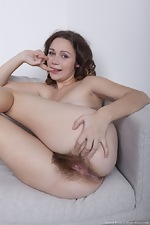 Sharon Rosie strips naked after reading a magazine - pic #12