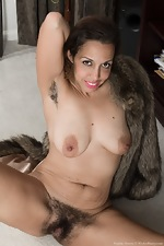 Sophie Moore is elegant in her fur and black boots  - pic #12