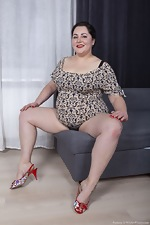 Sweety strips as she shows off her red lips - pic #2