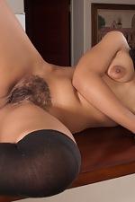 Sexy Tess Morgan mounts the bar - pic #14
