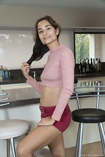 Tiffany enjoys getting naked in her kitchen - pic #1