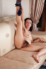 Tracey Anne strips from stockings to masturbate - pic #13