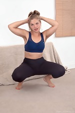 Ulrikke enjoys a sexy and fun naked workout  - pic #2