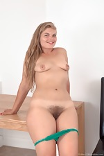 Ulrikke strips nude on her dinner table - pic #8