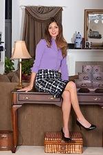 Vanessa Bush enjoys stripping off a purple shirt  - pic #1