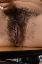 Violet Russo strips naked in her living room - pic #16