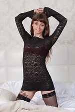 Willow wears her black dress and stockings - pic #5